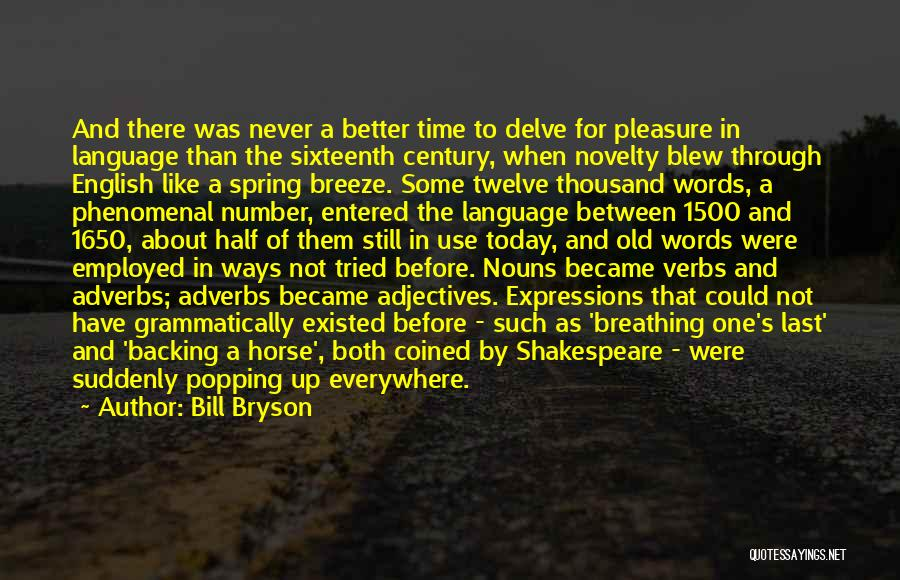 The Use Of English Language Quotes By Bill Bryson