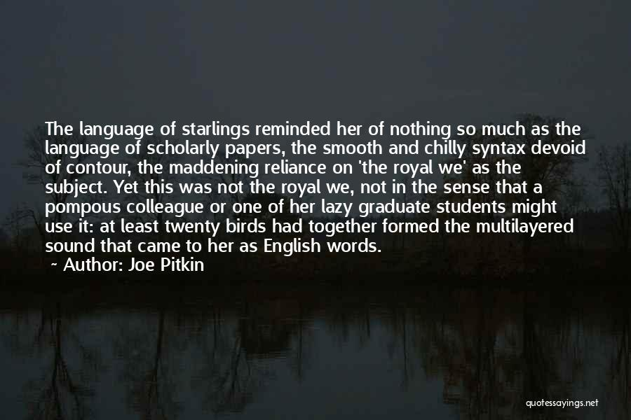 The Use Of English Language Quotes By Joe Pitkin
