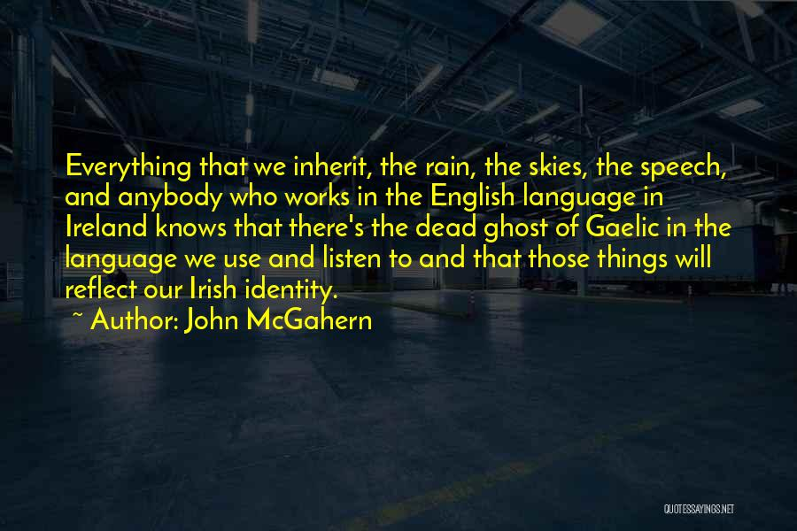The Use Of English Language Quotes By John McGahern