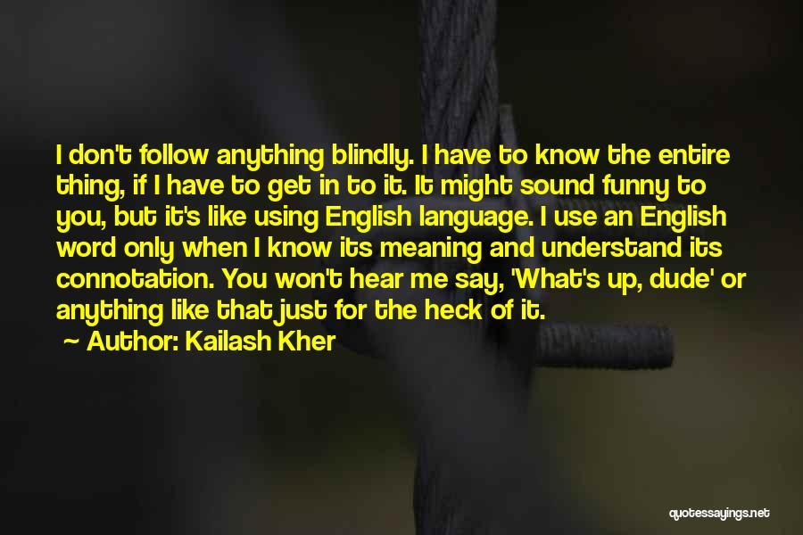 The Use Of English Language Quotes By Kailash Kher