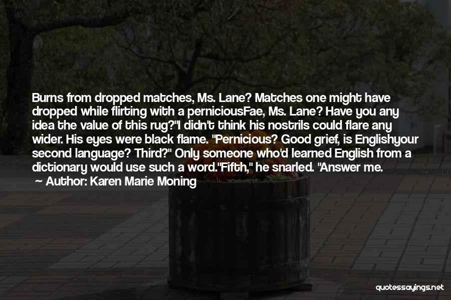 The Use Of English Language Quotes By Karen Marie Moning