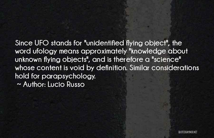 The Void Quotes By Lucio Russo