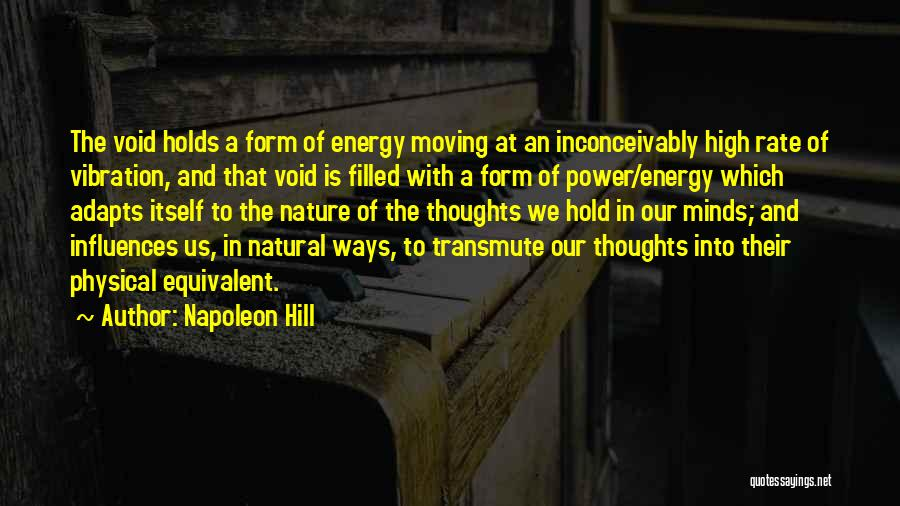 The Void Quotes By Napoleon Hill