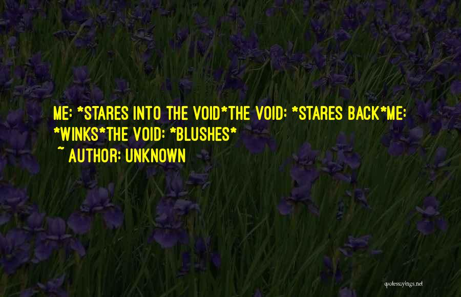 The Void Quotes By Unknown