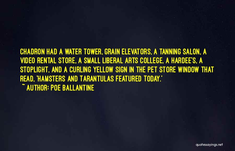 The Water Tower Quotes By Poe Ballantine
