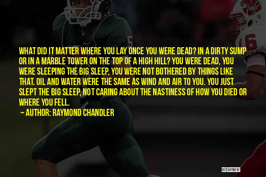 The Water Tower Quotes By Raymond Chandler