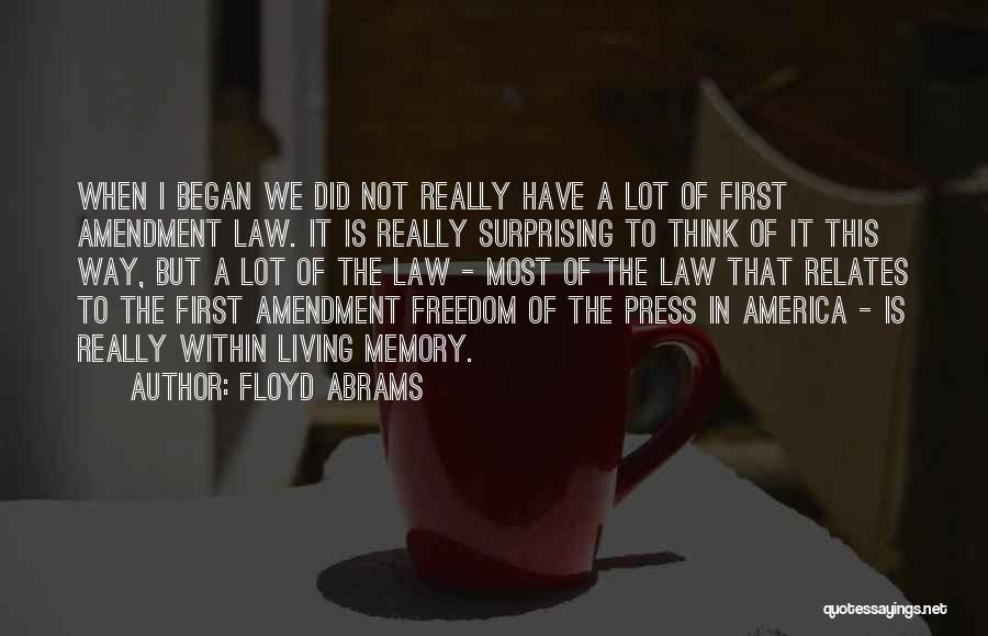 The Way We Think Quotes By Floyd Abrams
