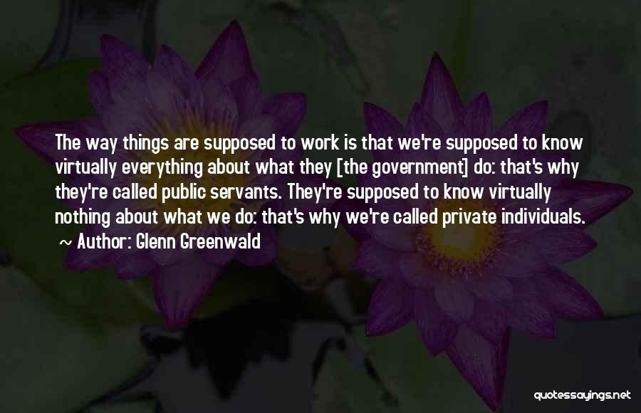 The Way We Work Quotes By Glenn Greenwald