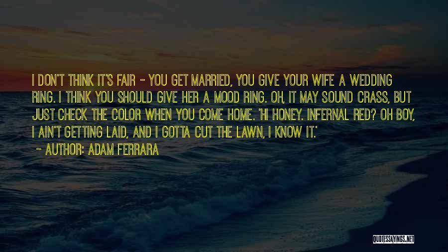 The Wedding Ring Quotes By Adam Ferrara
