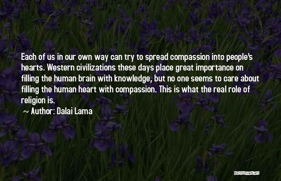 The Western Us Quotes By Dalai Lama