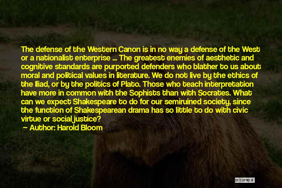 The Western Us Quotes By Harold Bloom