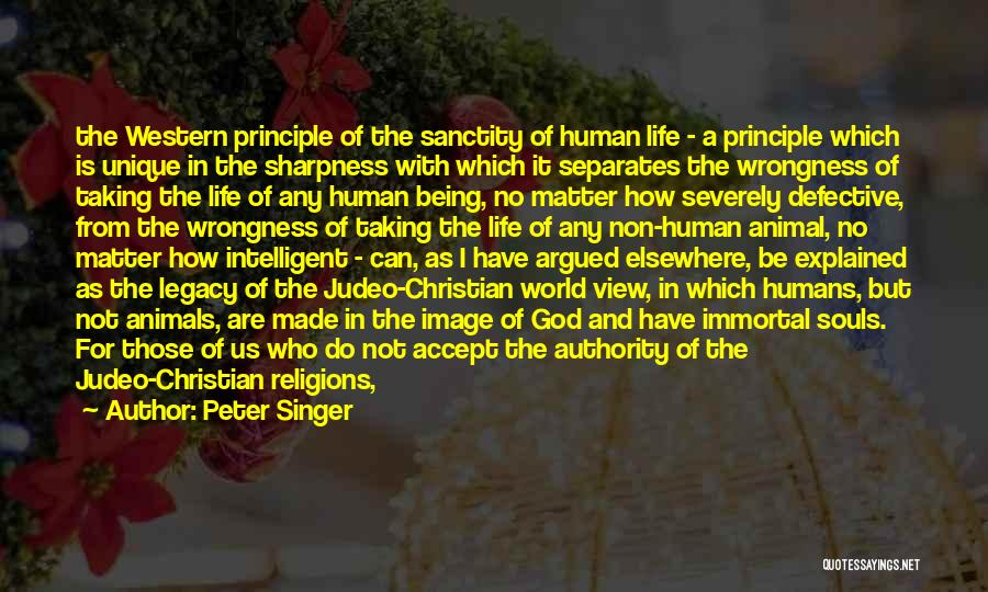 The Western Us Quotes By Peter Singer