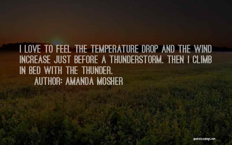 The Wind And Love Quotes By Amanda Mosher