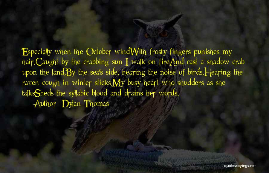 The Wind In My Hair Quotes By Dylan Thomas