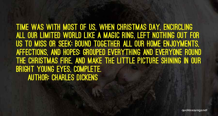 The World And Home Quotes By Charles Dickens