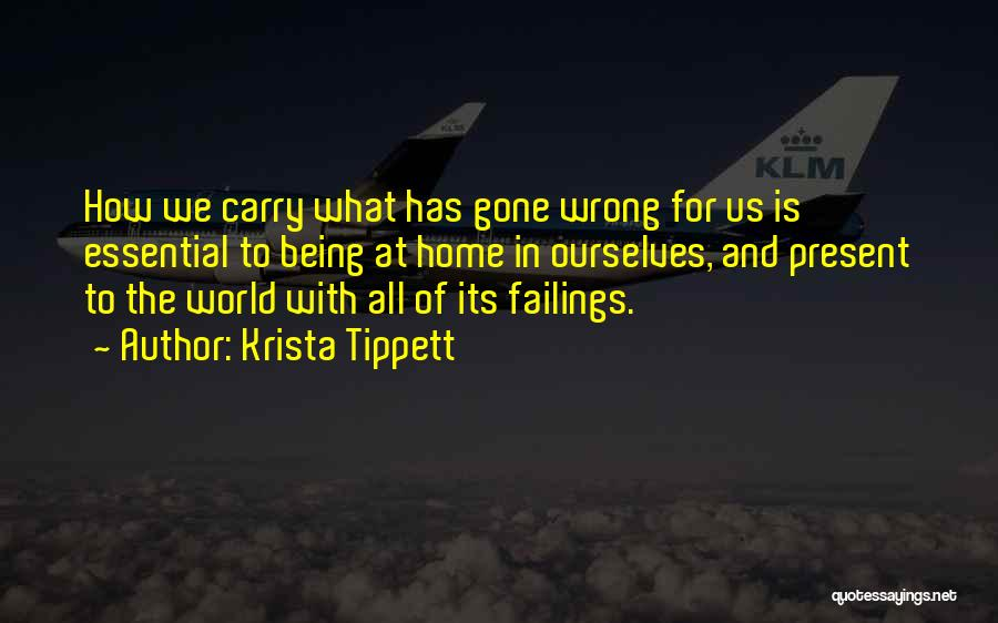 The World And Home Quotes By Krista Tippett