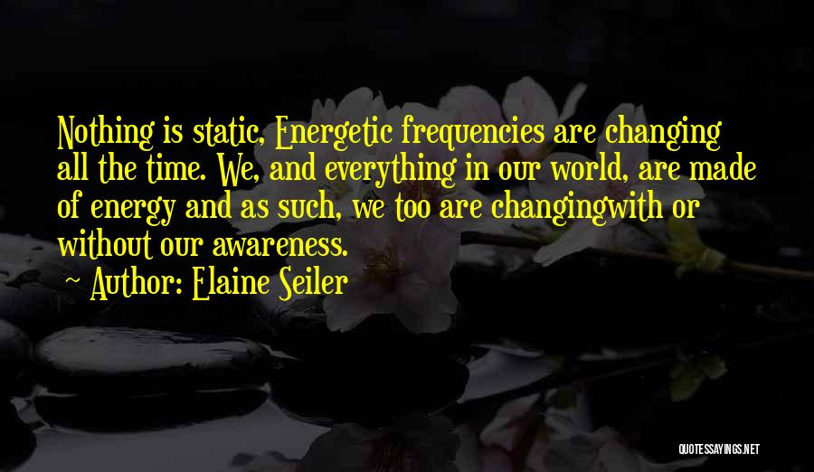 The World Changing You Quotes By Elaine Seiler