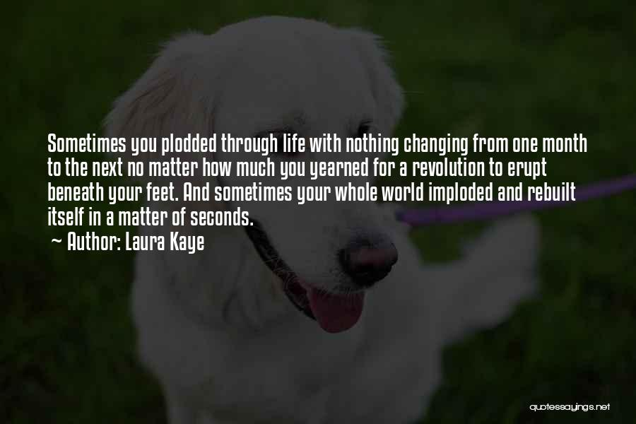 The World Changing You Quotes By Laura Kaye