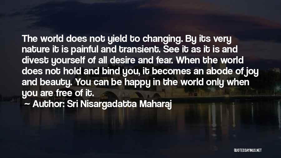 The World Changing You Quotes By Sri Nisargadatta Maharaj