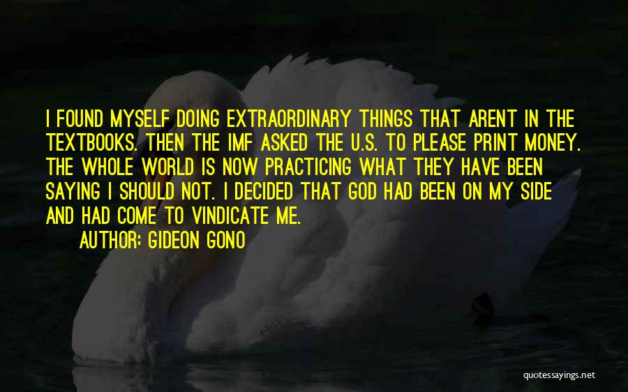 Then And Now Quotes By Gideon Gono
