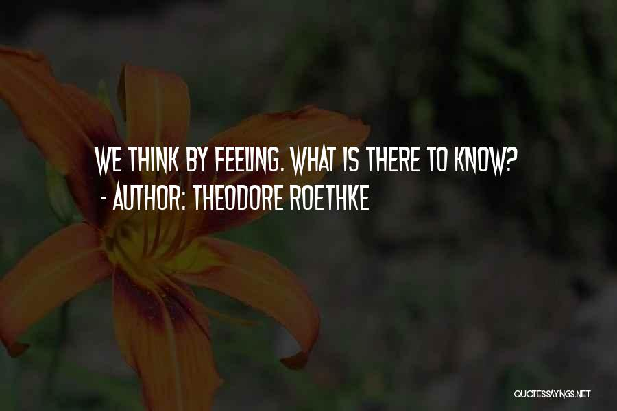 Theodore Roethke Quotes 1200624