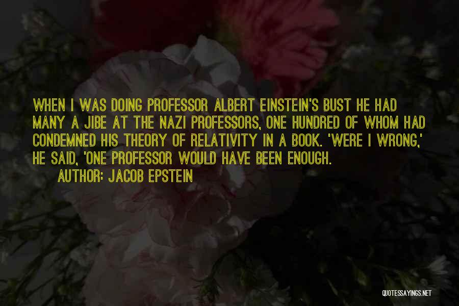 Theory Of Relativity Book Quotes By Jacob Epstein
