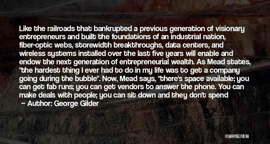 There Are Times In Life Quotes By George Gilder