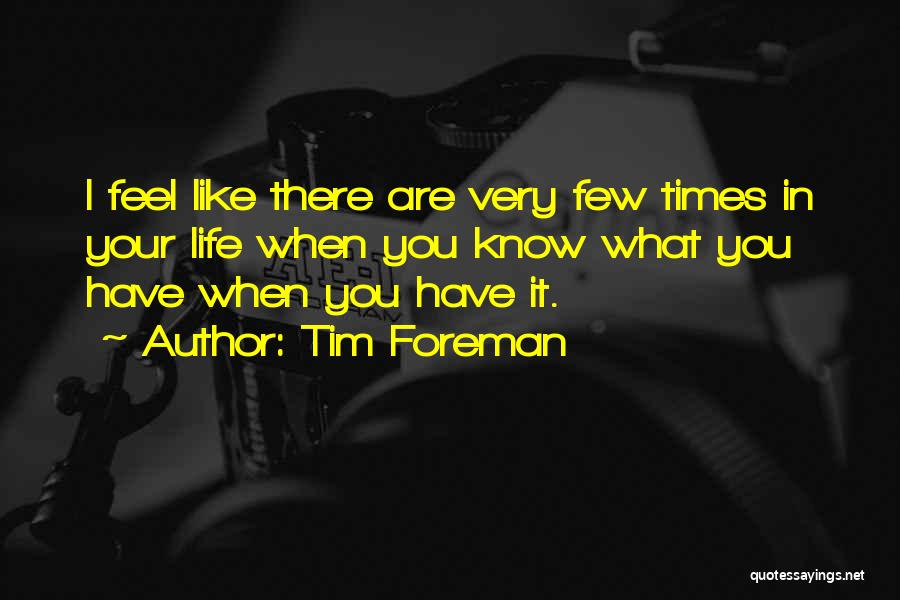 There Are Times In Life Quotes By Tim Foreman