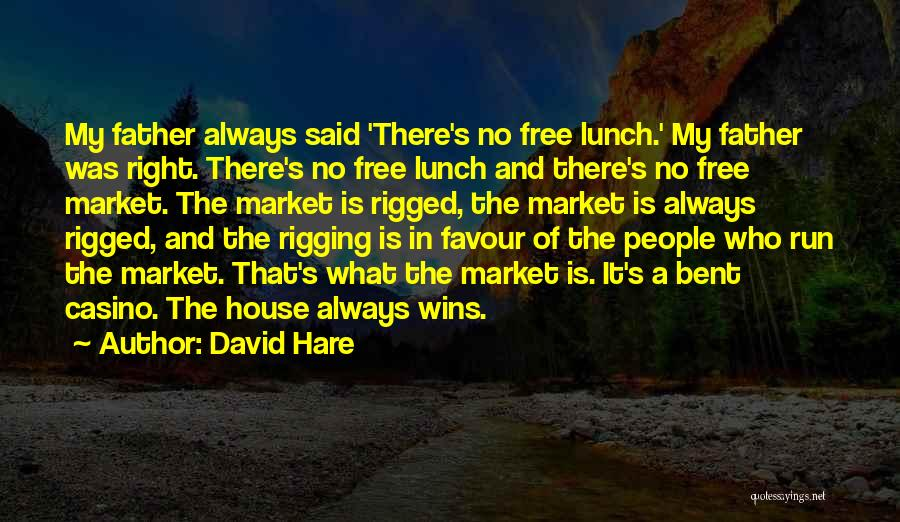There Is No Free Lunch Quotes By David Hare
