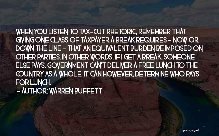 There Is No Free Lunch Quotes By Warren Buffett