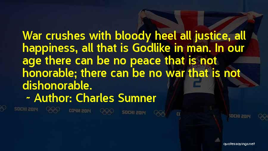 There Is No Happiness Quotes By Charles Sumner