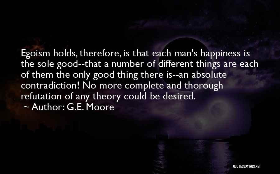 There Is No Happiness Quotes By G.E. Moore