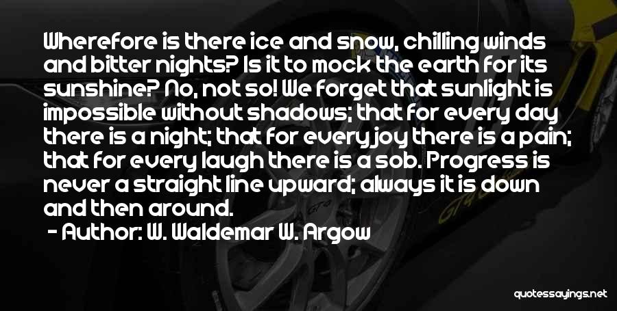 There Is No Happiness Quotes By W. Waldemar W. Argow