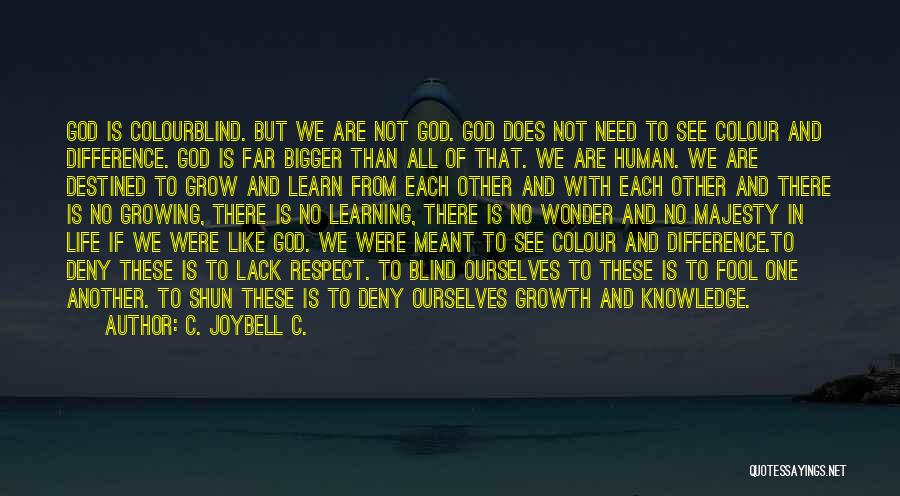 There Is No One Like God Quotes By C. JoyBell C.