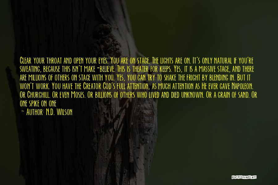 There Is No One Like God Quotes By N.D. Wilson
