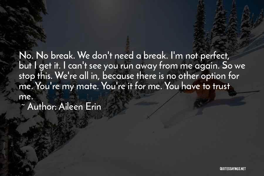 There Is No Perfect Love Quotes By Aileen Erin