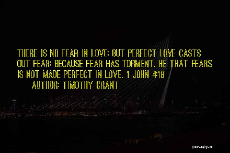There Is No Perfect Love Quotes By Timothy Grant