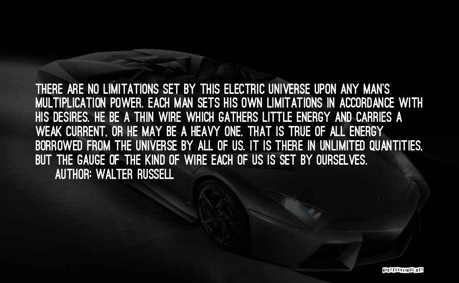 There No Limitations Quotes By Walter Russell
