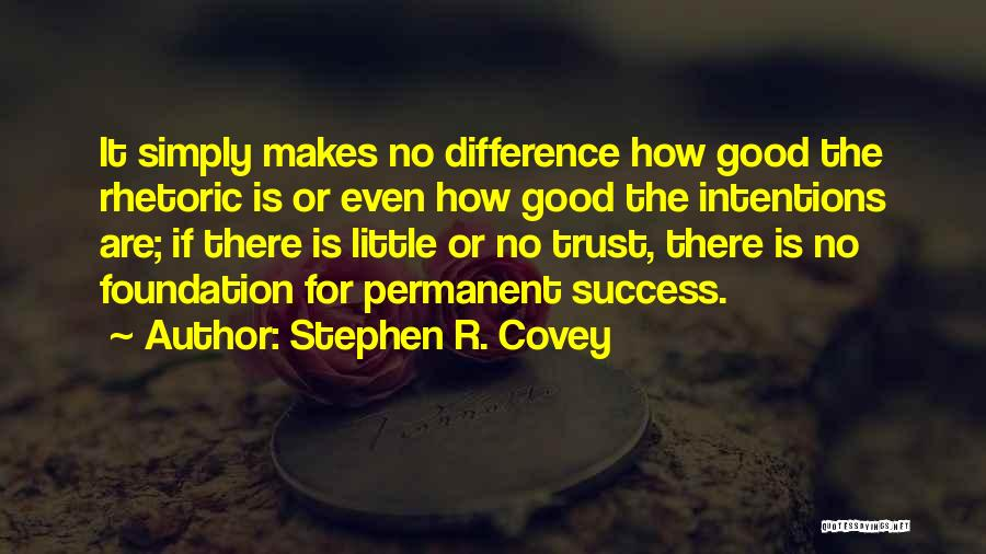 There's No Permanent Quotes By Stephen R. Covey
