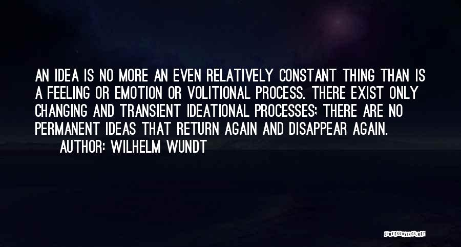 There's No Permanent Quotes By Wilhelm Wundt