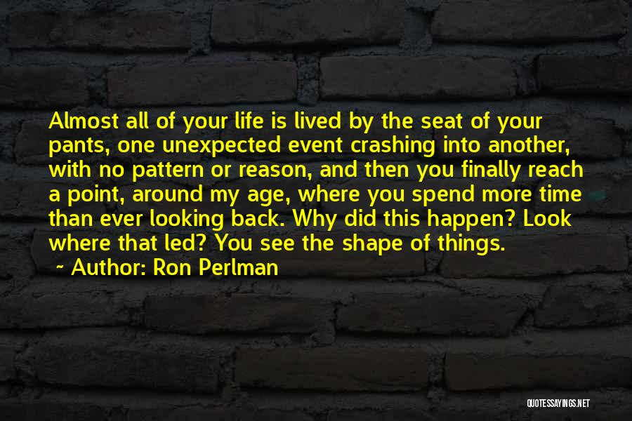 There's No Reason To Look Back Quotes By Ron Perlman