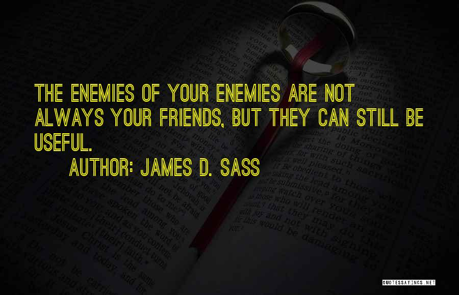 They Are Not Your Friends Quotes By James D. Sass