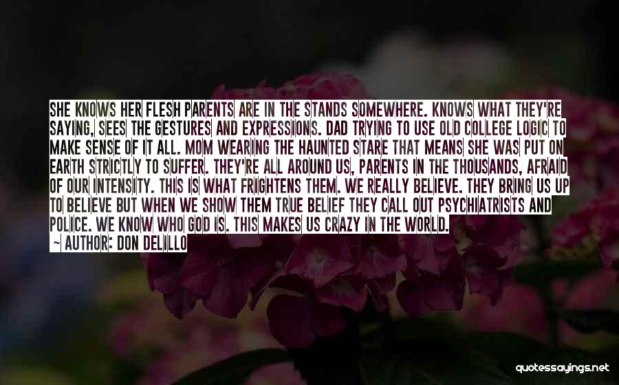 They Call Us Crazy Quotes By Don DeLillo