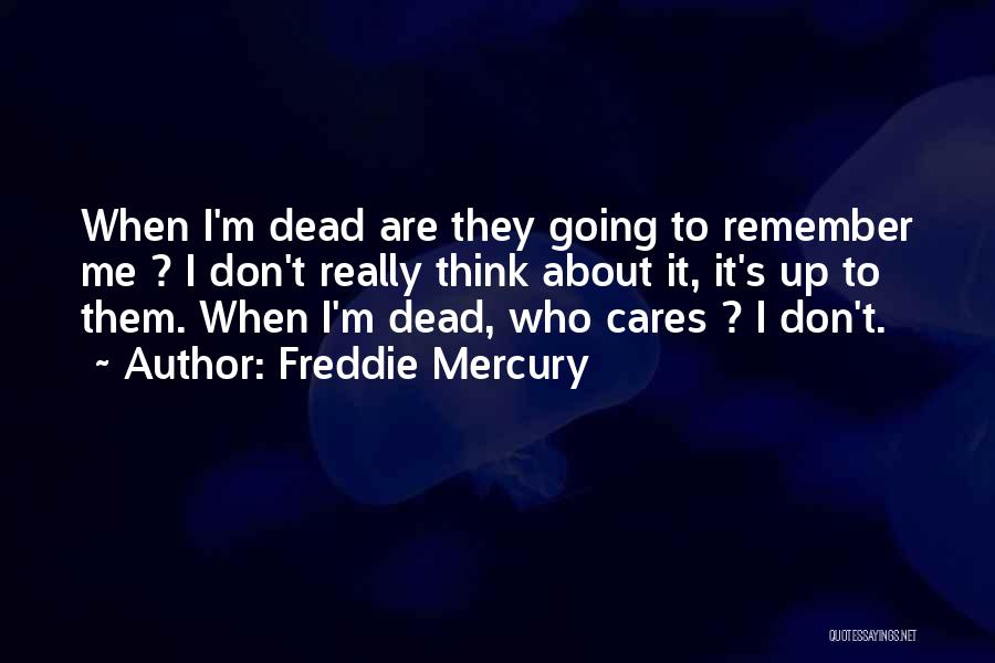 They Don't Care About Me Quotes By Freddie Mercury