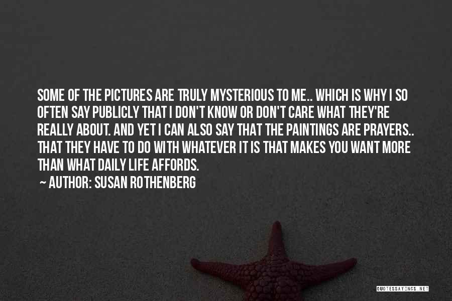 They Don't Care About Me Quotes By Susan Rothenberg