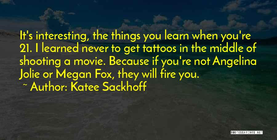 They Never Learn Quotes By Katee Sackhoff