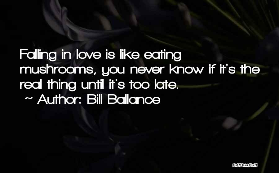 Thing Love Quotes By Bill Ballance