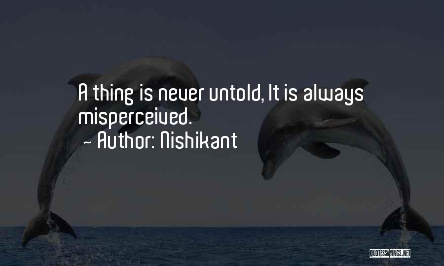 Thing Love Quotes By Nishikant