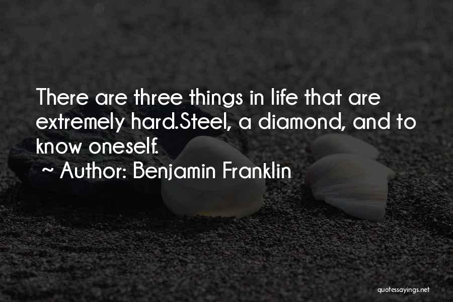 Things Are Hard Quotes By Benjamin Franklin