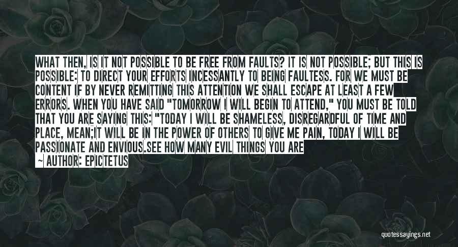 Things Being Possible Quotes By Epictetus